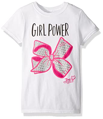 72d1f47a74d Amazon.com  Jojo Siwa Big Girl Power Bow Short Sleeve T-Shirt  Clothing