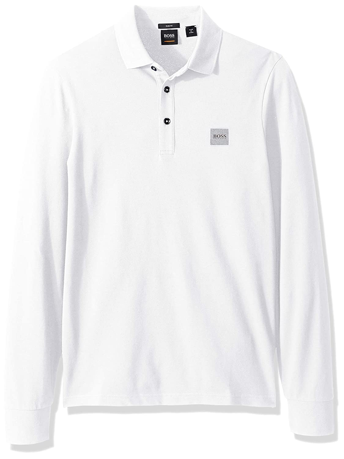 65cc4718 Hugo Boss Mens Passerby Long Sleeve Polo with Chest Logo Patch Polo Shirt:  Amazon.ca: Clothing & Accessories
