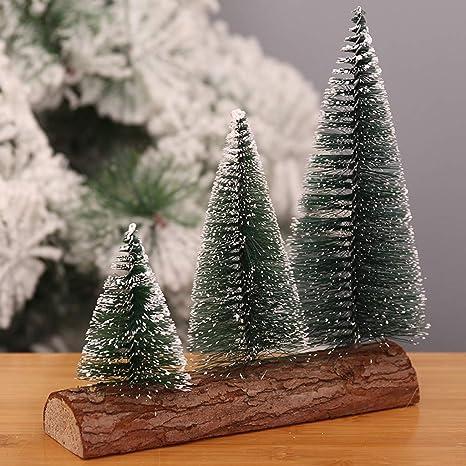 Amazon.com: Glumes Mini árboles de nieve de plástico para ...