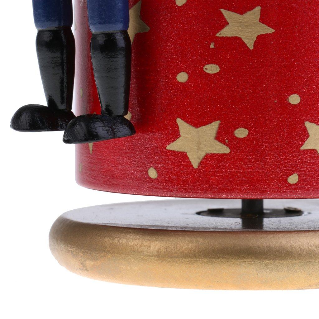 Azul Sharplace Caja Musical de Cascanueces de Madera 4 Soldados Pintado a Mano Regalos Creativos para Ni/ño