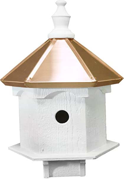 Amazon Com Amish Double Bluebird Birdhouse With Copper Roof Handcrafted In The Usa Garden Outdoor