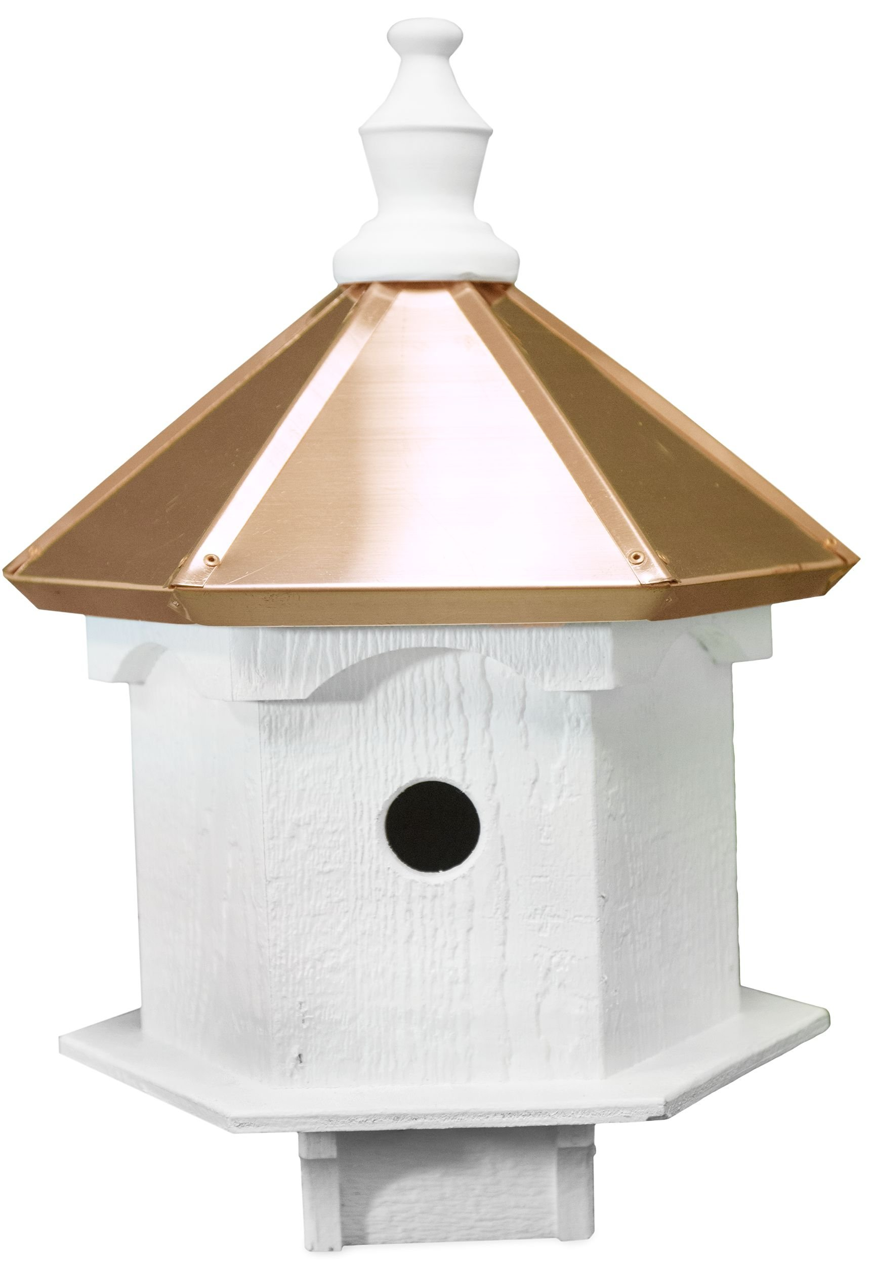 Amish Double Bluebird Birdhouse with Copper Roof, Handcrafted in the USA by Willow Run Collection