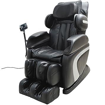 massage chair leather. homcom luxury reclining leather massage chair automatic zero gravity relax multifunctional full body s