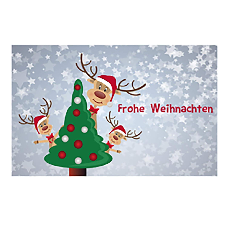 Set Geschenkboxen Rentier in verschiedenen Motiven 6-tlg Geschenkkarton Weihnachten Farbe Rentier mit Baum Geschenkbox Weihnachten
