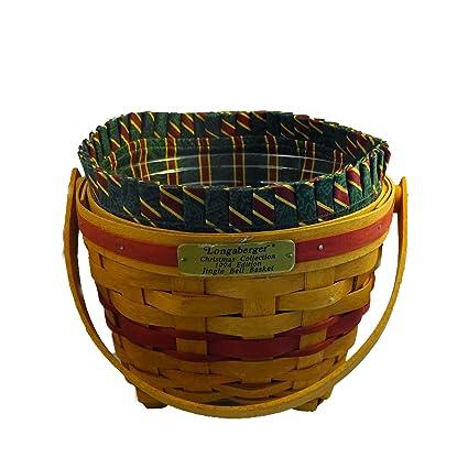Longaberger Christmas Basket.Amazon Com Longaberger 1994 Christmas Jingle Bell Basket W