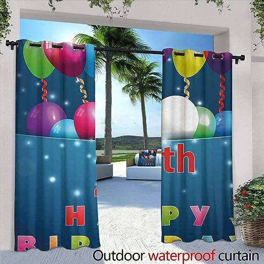 Tim1Beve panel de cortina para exteriores para patio 22 cumpleaños ...