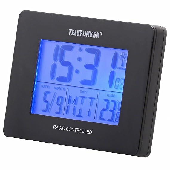 TELEFUNKEN TF-DC-20 - Reloj digital unisex de cuarzo (alarma, luz