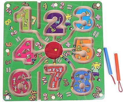 styleinside Lápiz Magnético Que Maneja una Cuenta de Madera Laberinto Puzzle - Laberinto de Anillo - Laberinto de Imán para Niños (# 7?: Amazon.es: Juguetes y juegos