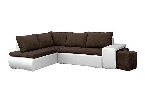 Mb Moebel Ecksofa Mit Zwei Hocker Sofa Eckcouch Couch Mit