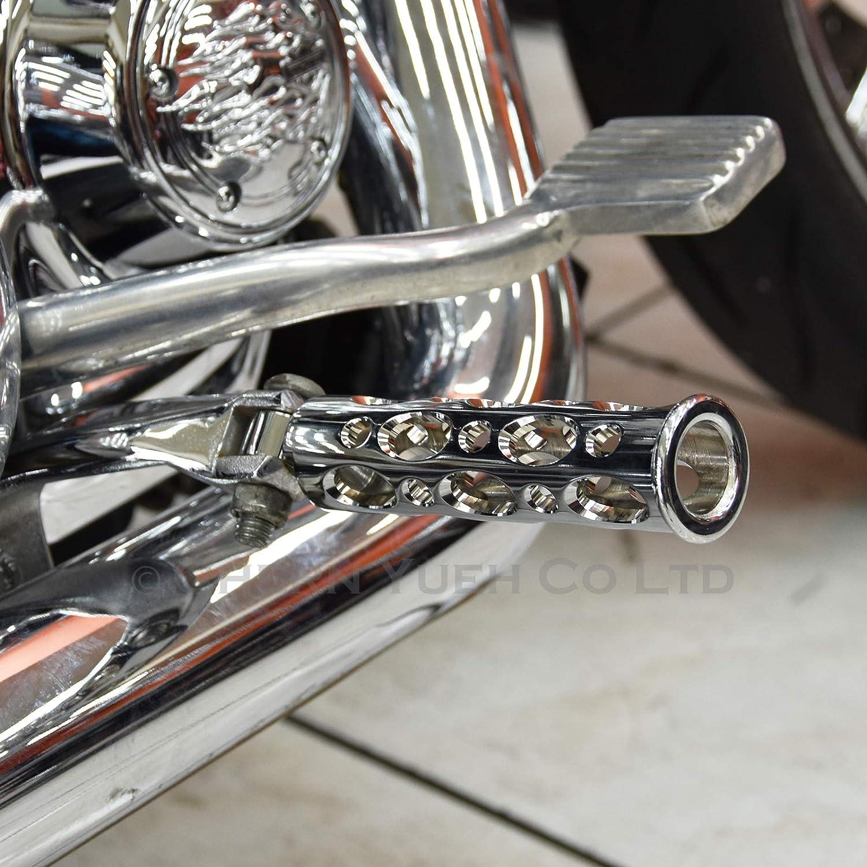 Matte Black Billet CNC Aluminum Motorcycle Foot Pegs for Harley-Davidson Style Male Mount Footrest Rear Set