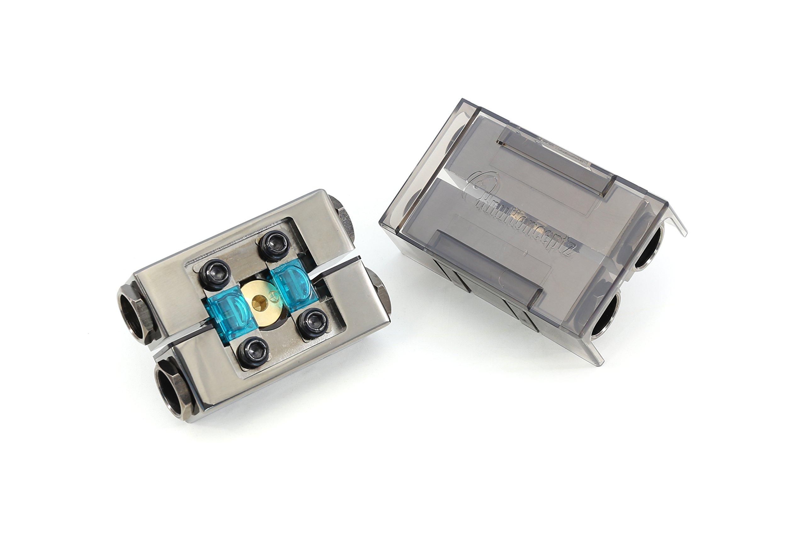 KnuKonceptz KonFUSED 0 Gauge Positive and Negative Battery Terminal Pair