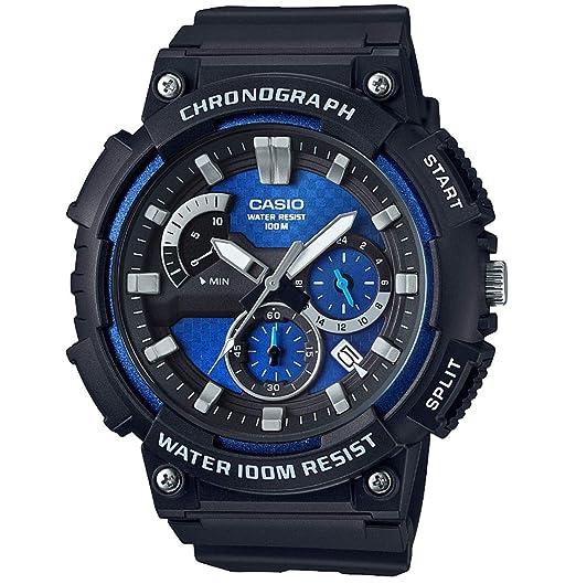 Casio Reloj Analogico para Hombre de Cuarzo con Correa en Acero Inoxidable sólido MCW-200H-2AVEF: Amazon.es: Relojes