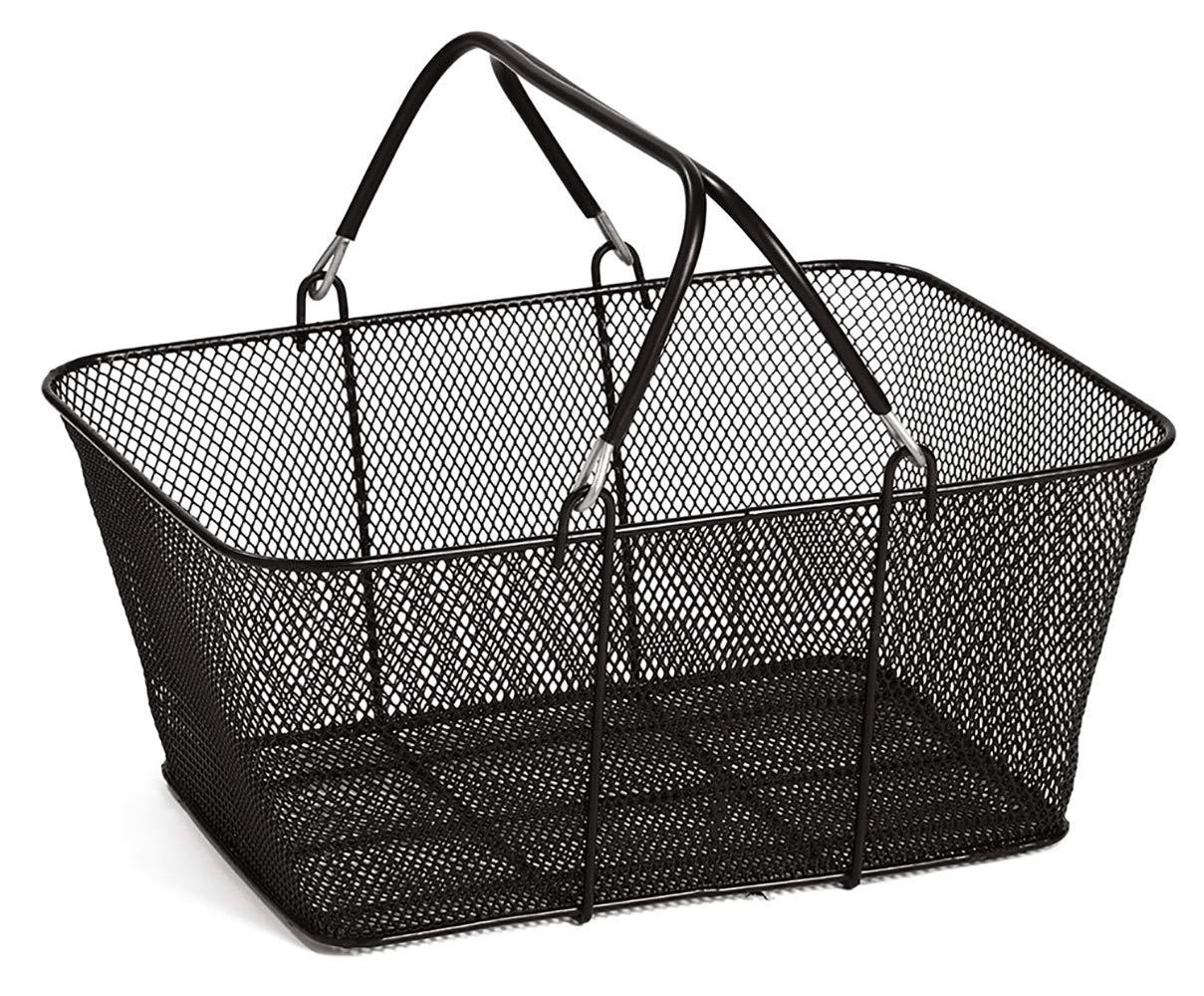 Black Metal Shopping Basket