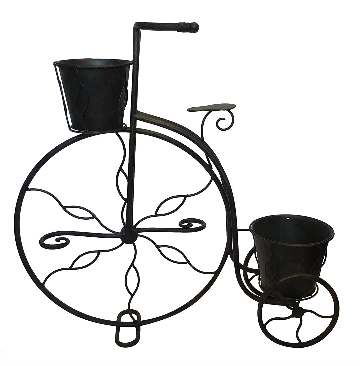 Black Country Metal Works Antique Bronze Penny Farthing Garden Planter