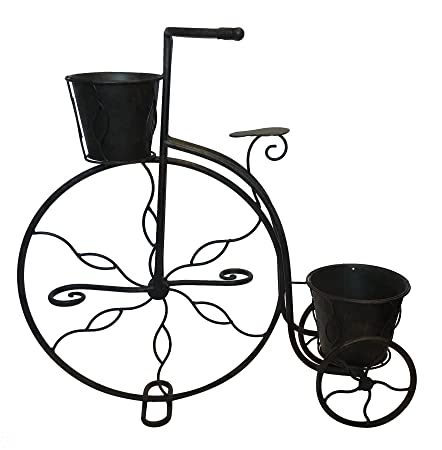 Black Country Metal Works Antique Bronze Penny Farthing Garden