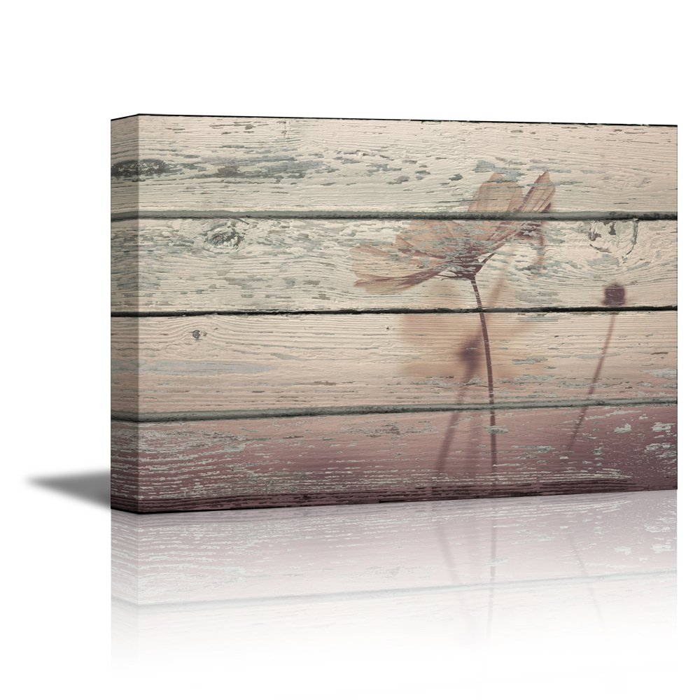"12/""x18/"" Artistic Abstract Dandelion on Vintage Wood Background Canvas Prints"