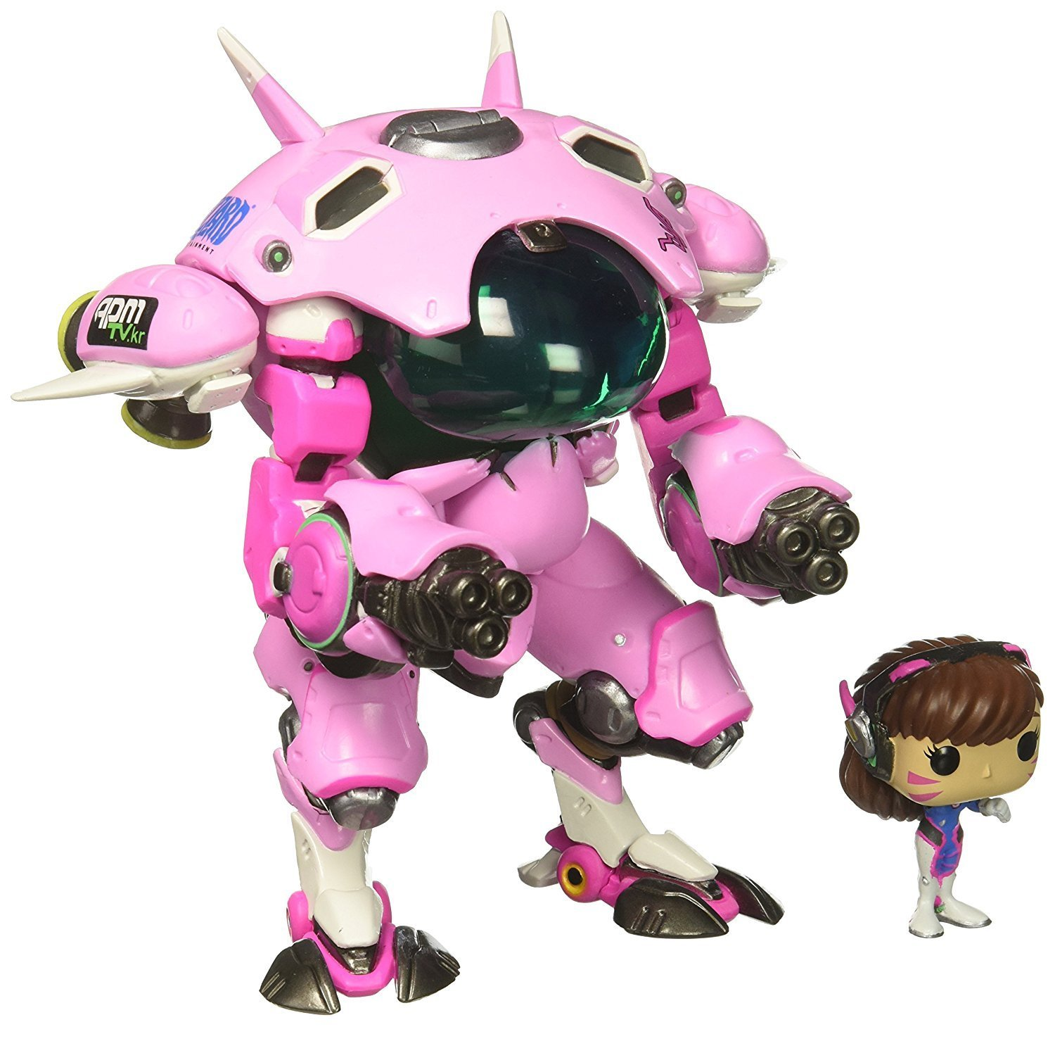 Funko POP Games: Overwatch D.VA & Meka 6''  POP and Buddy  Toy Figure