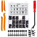 KUFUNG Car Bumper Retainer Clips & Nylon Fasteners Rivet Kit, Bumper Quick Release, Auto Push Pin Rivets Set, Door Trim…