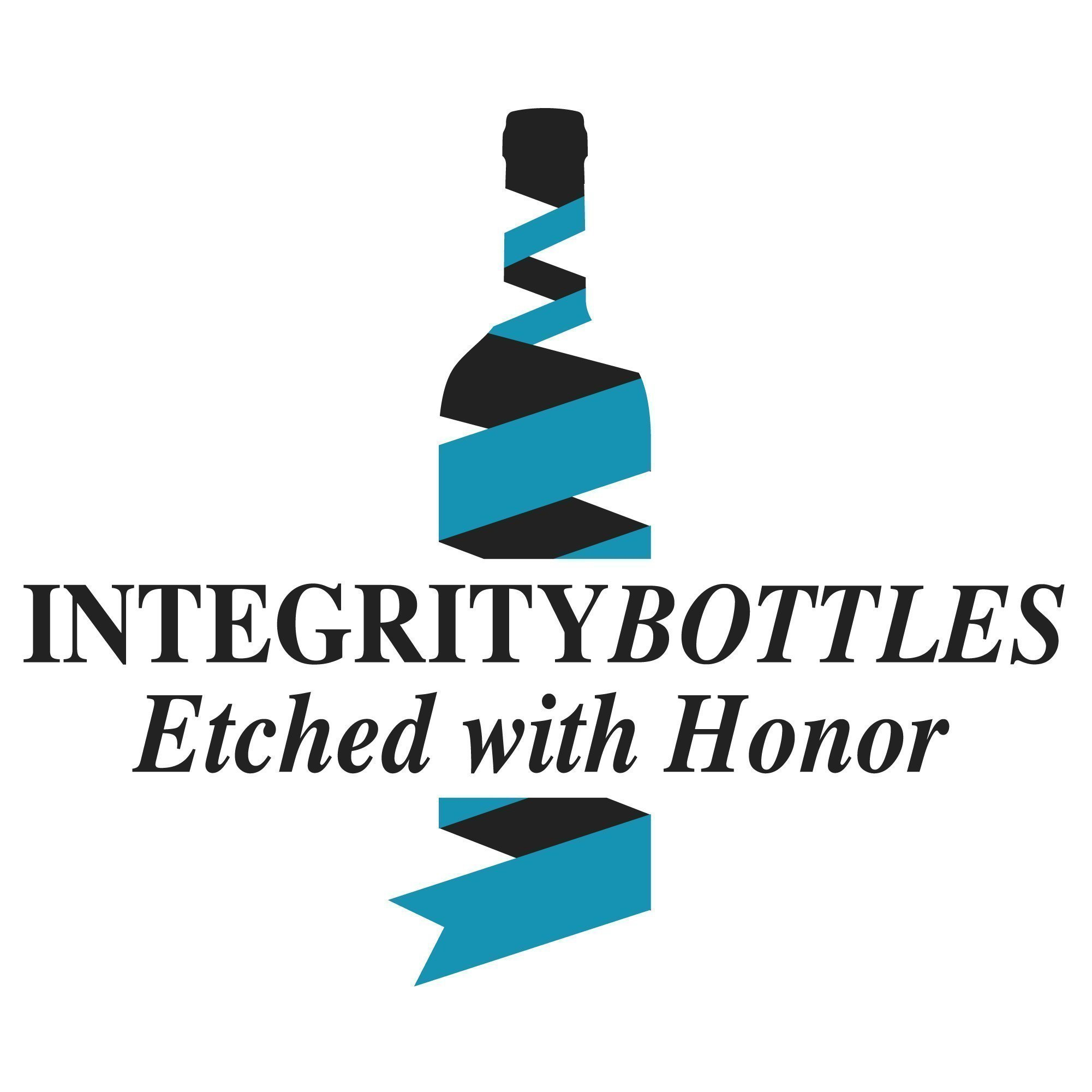 Crackle Teal Stemless Wine Glass - Hand Etched Tribal Dolphin Design - Sand Carved by Integrity Bottles by Integrity Bottles (Image #2)