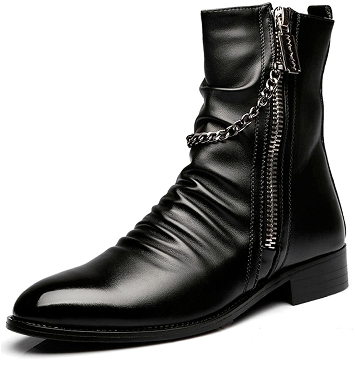 Men's Retro Cowskin Martin Ankle Boot Trendy Combat Motorcycle Boot:  Amazon.ca: Shoes & Handbags