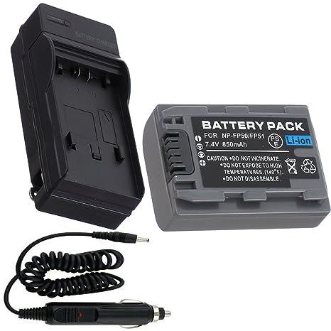 Batería + Cargador para Sony DCR-DVD105 DCR-DVD205 DVD ...
