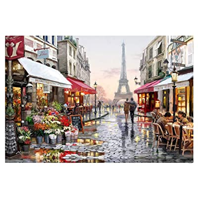 Cascaba Paint by Numbers Kits DIY Oil Painting Canvas Landscape Adults Kids for Home Living Room Decoration: Toys & Games