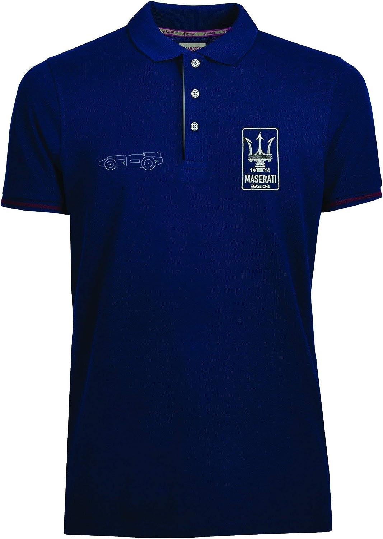 Maserati Classiche Mens Eldorado Polo Shirt Blue