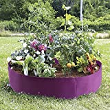 Mokylor 100-Gallon Extra Large Raised Bed, Round Grow Bag Diameter 36'' Height 12'' Made Of Growth Friendly Felt for Nursery Garden and Planting Grow (Purple)