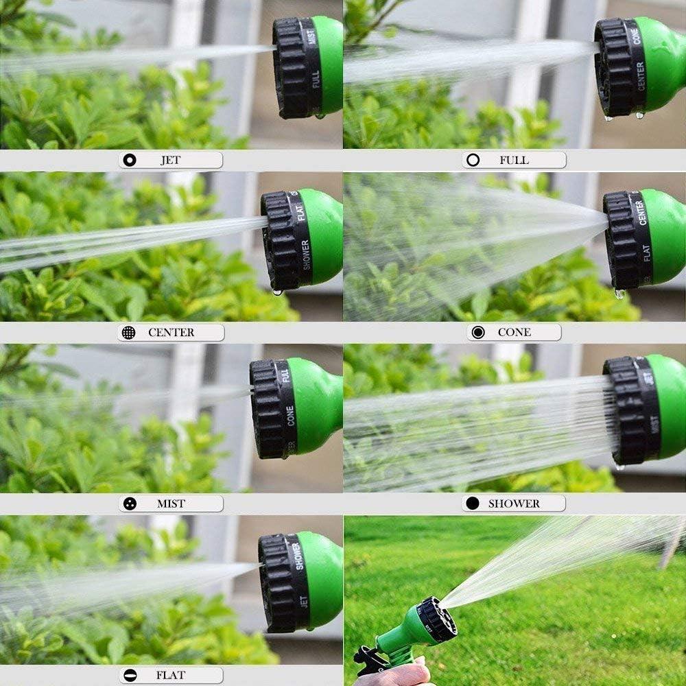 FEALING Flexibler Gartenschlauch 100FT Flexischlauch Gartenschlauch Flexi Wonder Gartenteich Schlauch Bew/ässungs Schlauch Dehnbar mit 8 Funktion Garten Handbrause
