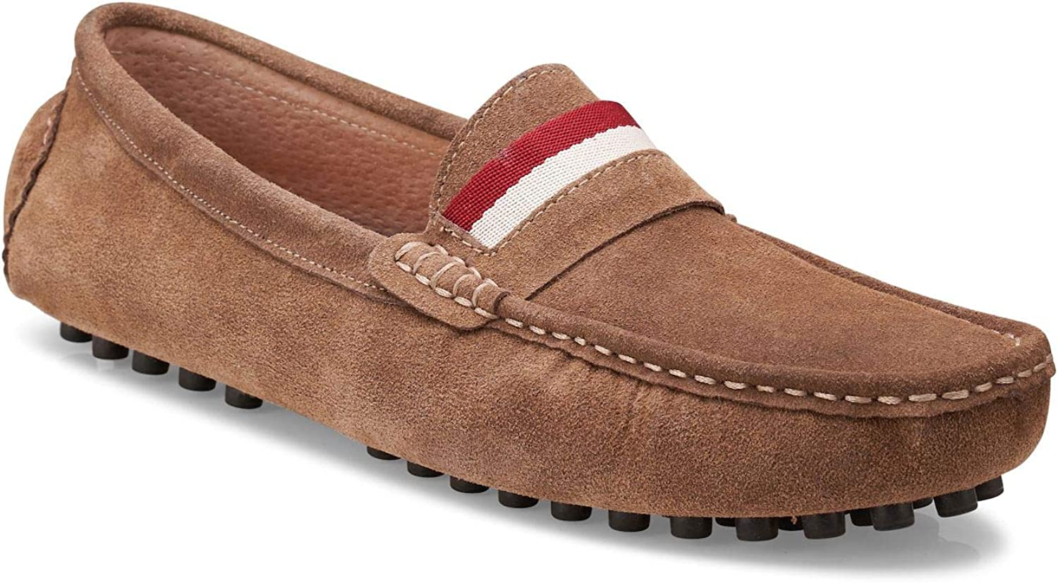 Mens Retro Shoes | Vintage Shoes & Boots Members Only Mens Suede Leather Casual Slip on Driving Loafers Moccasins Shoes $63.00 AT vintagedancer.com