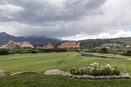 24 X 36 Giclee Print Of View From The Garden Of The Gods Club A Country