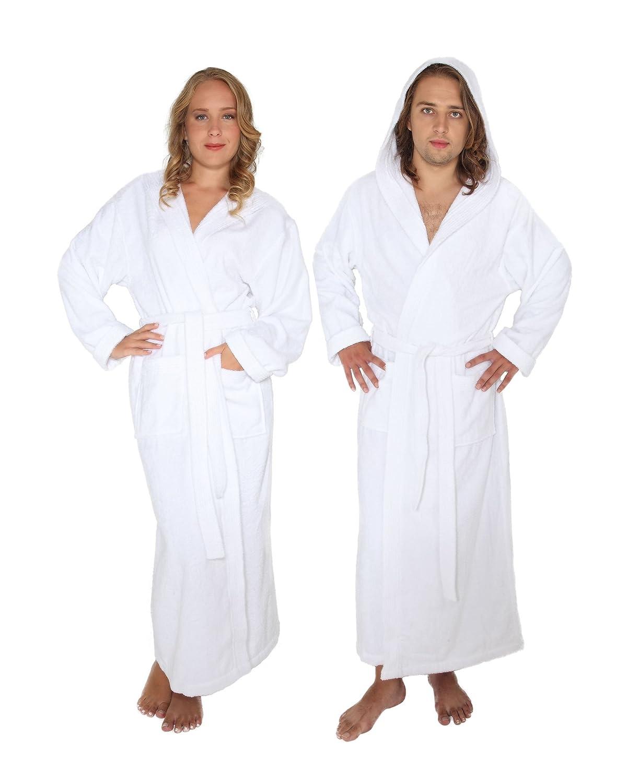 Albornoz con Capucha Pacific para Hombre y Mujer Peso Ligero Arus 100/% algod/ón Extra Largo