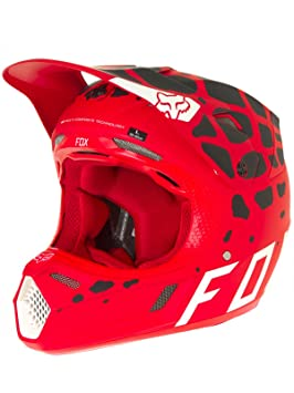 Casco Mx Fox 2017 V3 Grav Rojo (M , Rojo)