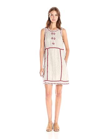 1ae68ef9c9acf Amazon.com  Ella Moss Women s Marini Embroidered Dress  Clothing