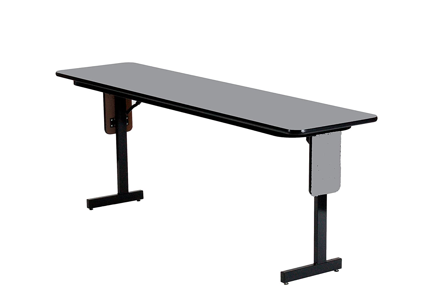 Black Granite 60 Length Correll SPA1860PX-07 Adjustable Height Folding Seminar Table with Panel Leg 22-30 Wide Rectangular Top 18 Height