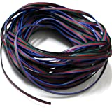 EvZ 4 Color 20m RGB Extension Cable Line for LED Strip RGB 5050 3528 Cord 4pin