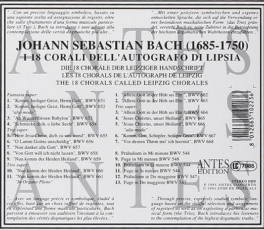 Bach:18 Leipzig Chorales: Amazon.com.au: Music