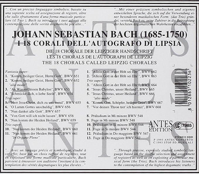 Bach;18 Leipzig Chorales: Amazon.ca: Music