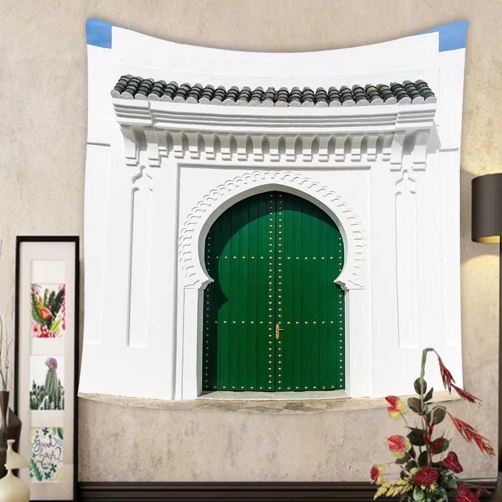 Evelyn C. Connor Custom?tapestry moroccan door in the medina of asilah morocco
