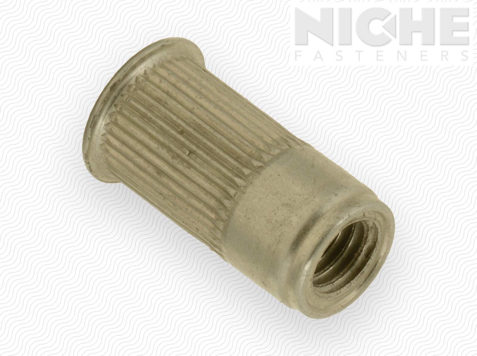 AVK Threaded Insert Knurled AK #10-32 x 225 ZY Triv Open End (170 Pieces)