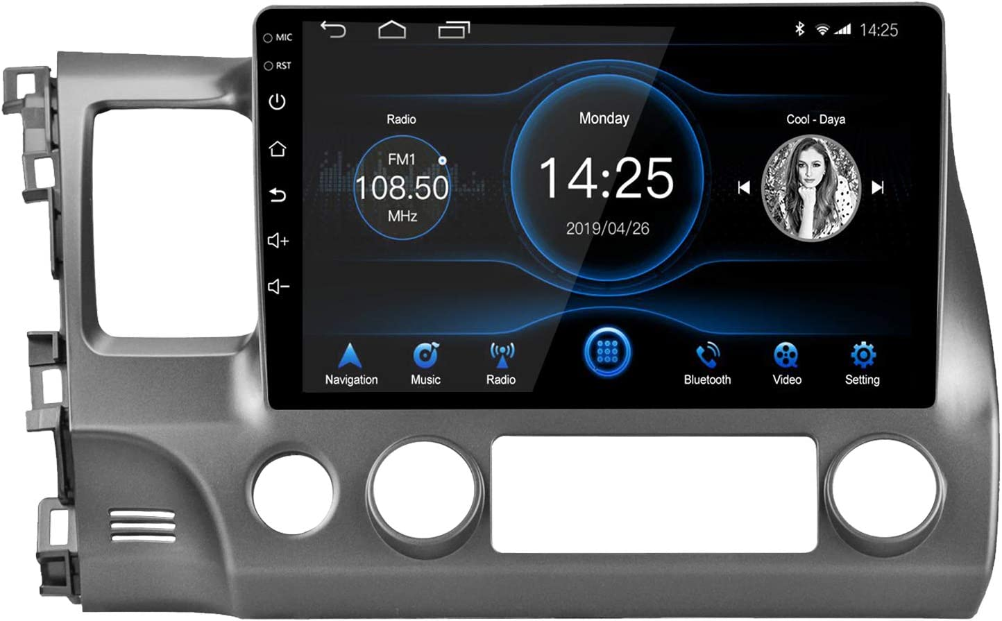 LEXXSON Android 10.1 Car Radio Stereo 9 inch Capacitive Touch Screen High Definition GPS Navigation Bluetooth USB Player 2G DDR3 16G NAND Memory Flash for Toyota RAV 4 2007-2012