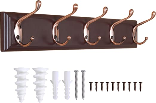 9 sizes SOLID OAK WOODEN HANDMADE COAT RACK HANGER HANGING PEGS BOARD RAIL 133
