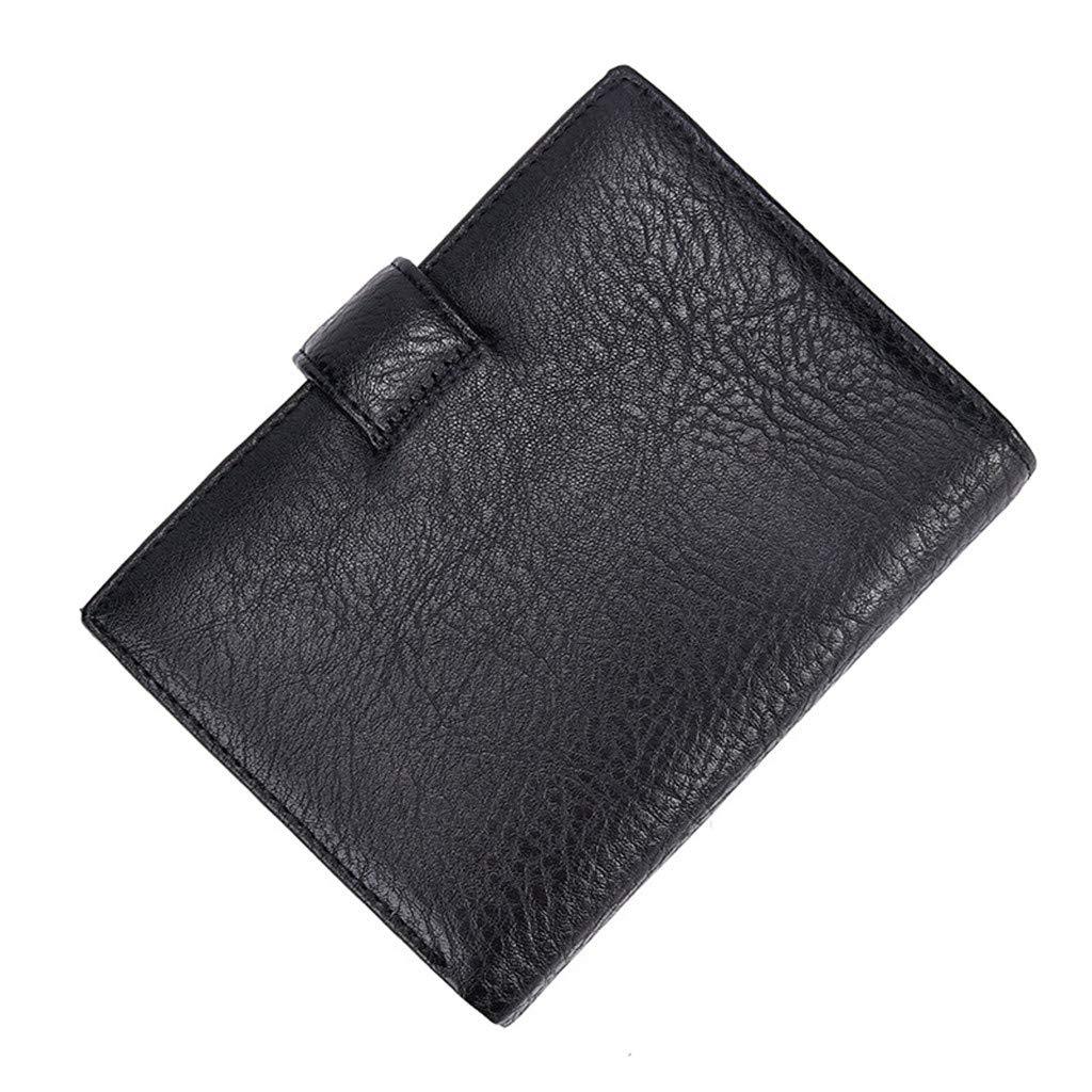 Honestyivan Mens Retro Leather Bifold Hasp Multi-Card Wallet ID Card Credit Card Holder Fashion Short Wallet Coin Purse