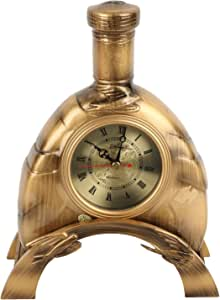 Lisheng Table Clock,Wood,Gold,1250013