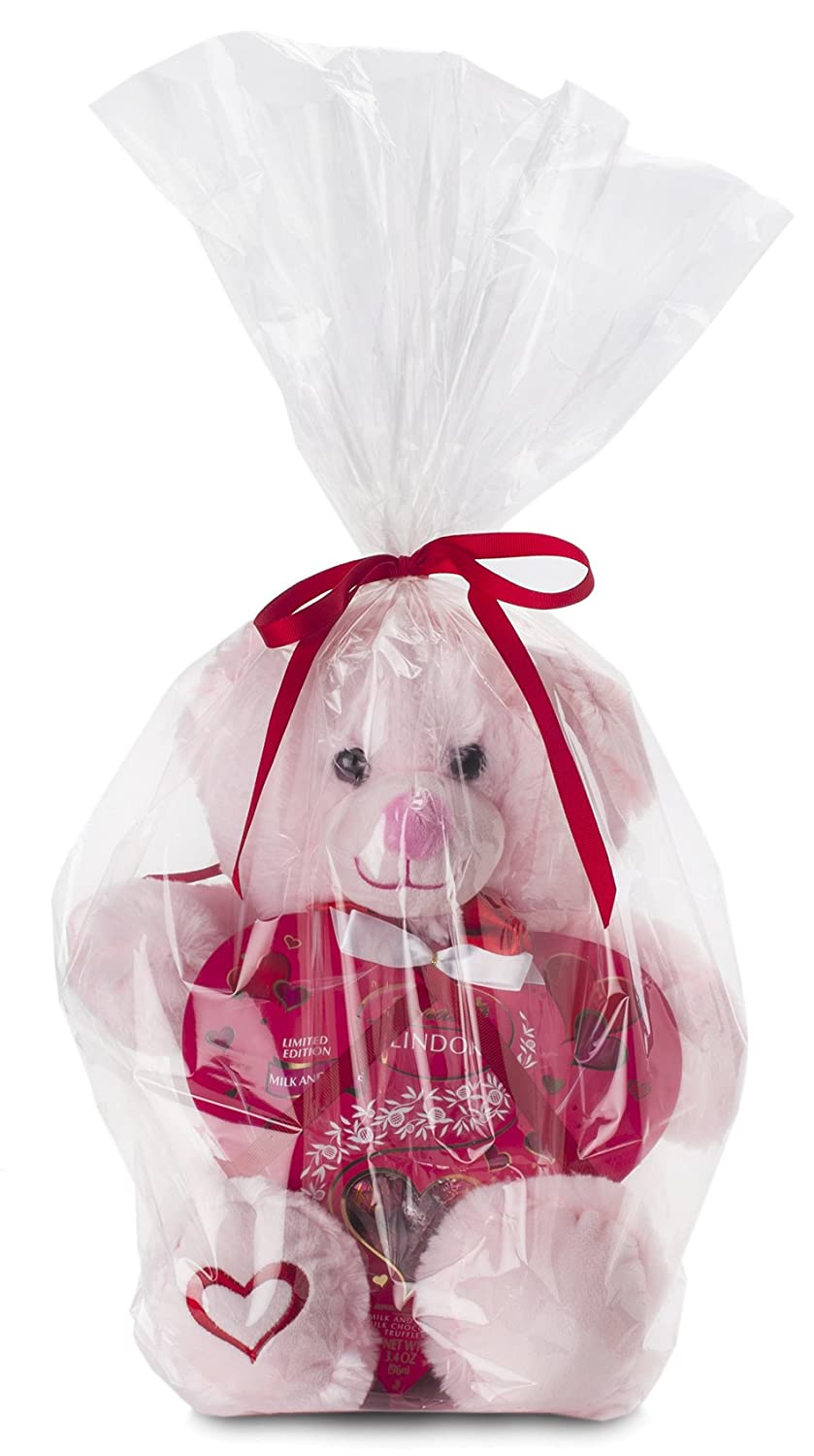 Cute Plush Teddy Bear with Valentine Day Candy Lindt Milk Chocolate ...