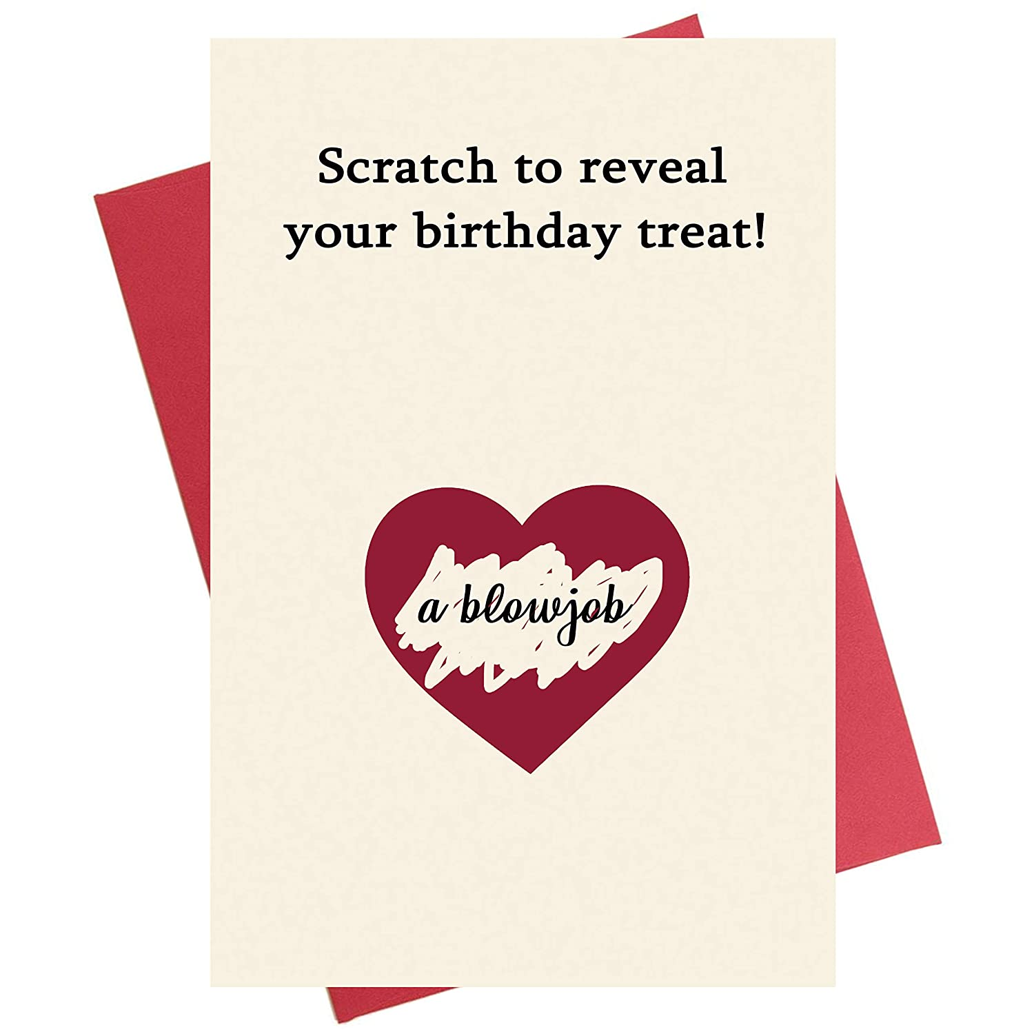 Amazon Scratch Birthday Card Special Unique Interactive Funny Naughty For Boyfriend Husband Fiance Office Products
