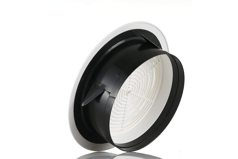 Hon/&Guan 75mm Grille de Ventilation Ajustable A/ération dAir Ronde