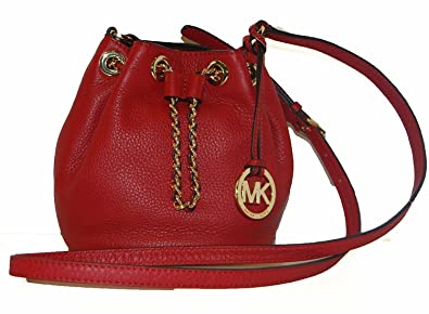 9b9f8606b738 Image Unavailable. Image not available for. Color: MICHAEL Michael Kors  Frankie Drawstring Cross-Body Bag Red