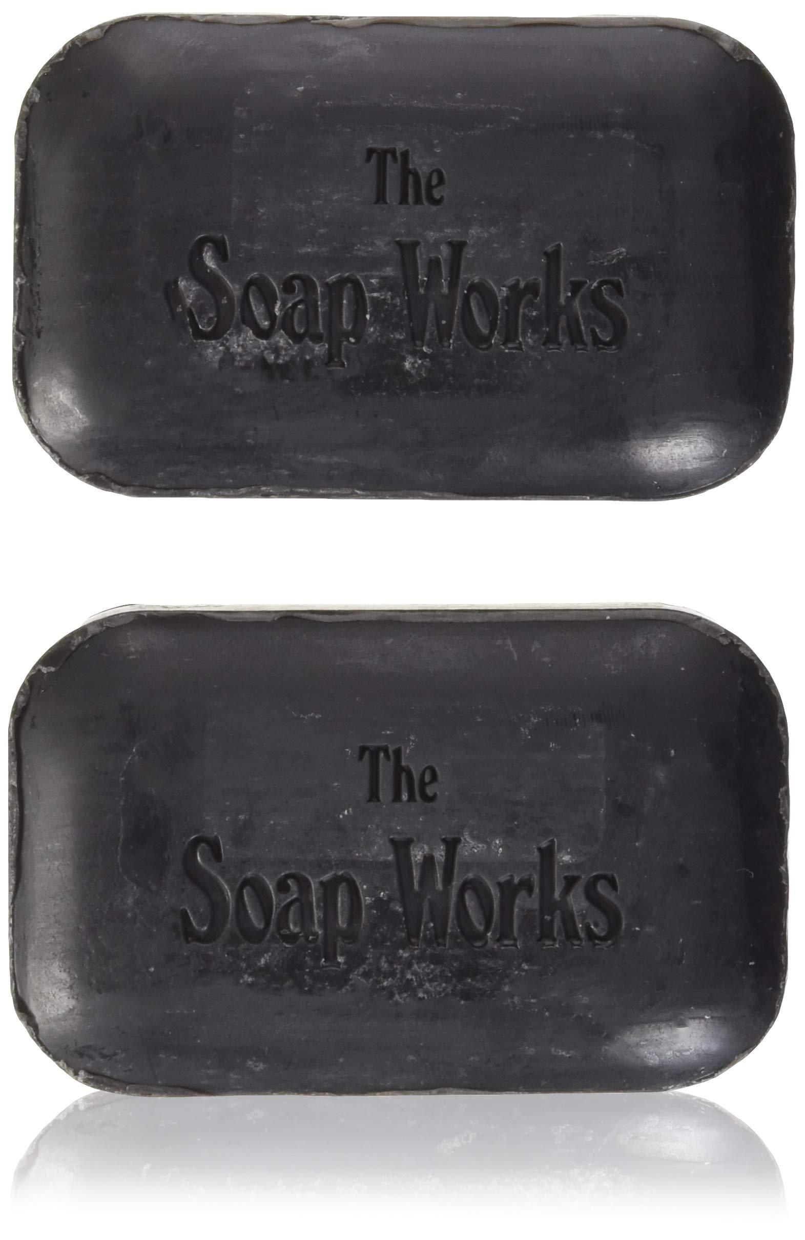 Soap Works Coal Tar Bar Soap (Black) (110g/bar) 2 bars