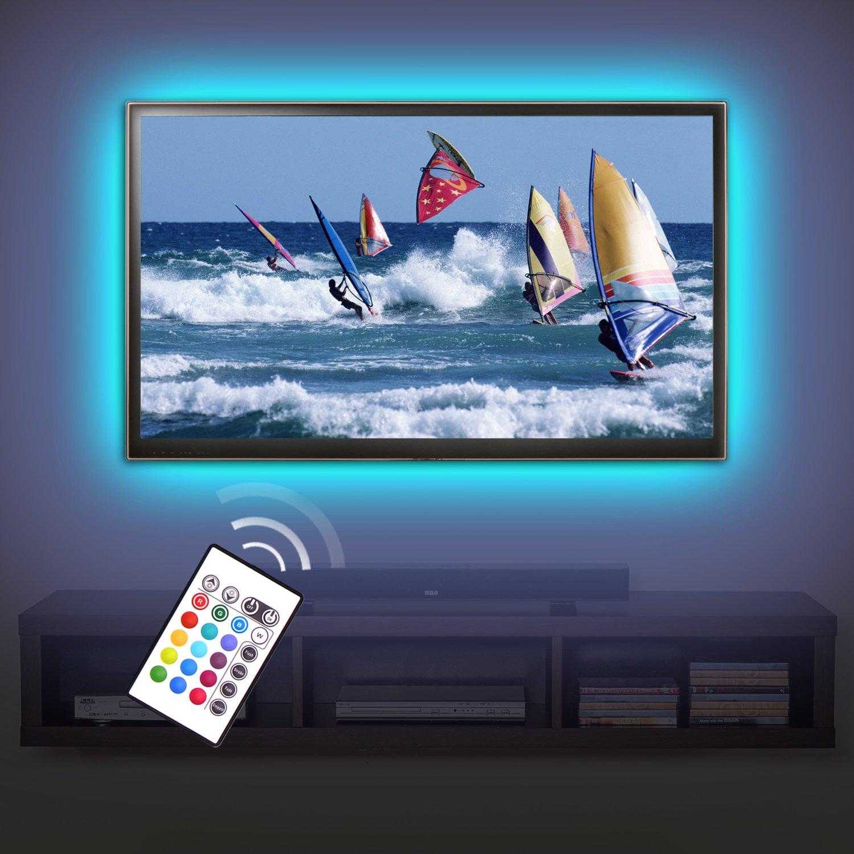 tv backlight kit lighting kit accent ambient lighting pre cut led strip lights ebay. Black Bedroom Furniture Sets. Home Design Ideas